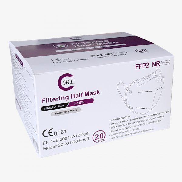 ML FFP2 Maske Schwarz Verpackung
